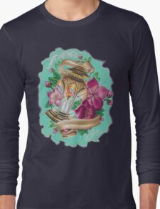 lantern with cherry blossoms Long Sleeve T-Shirt