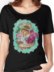 lantern with cherry blossoms Women's Relaxed Fit T-Shirt