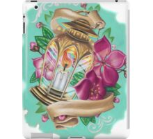 lantern with cherry blossoms iPad Case/Skin