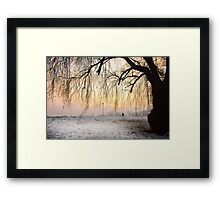 Wintry Sunset Framed Print
