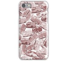 Camper Collage (Red) iPhone Case/Skin