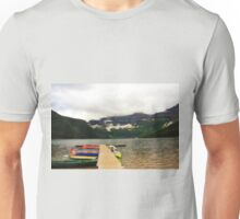 Brilliant Boats at Cameron Lake Unisex T-Shirt