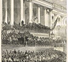 Second inauguration Abraham Lincoln 1865 by artfromthepast
