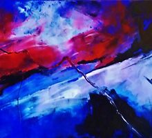ABSTRACT SUNSET 2 by John Cocoris