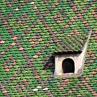 Green Tiled Roof by Kris McLennan