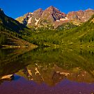 The Famous Maroon Bells by Roschetzky