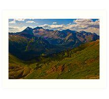 Amazing View of Snowmass Mountain and Lake Art Print