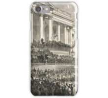 Second inauguration Abraham Lincoln 1865 iPhone Case/Skin