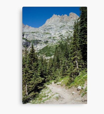 Hiking Rocky Mountain National Park Canvas Print