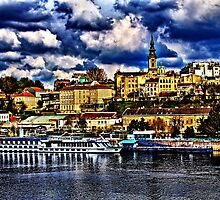 The Old Port Of Belgrade Fine Art Print by stockfineart