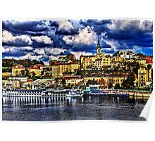 The Old Port Of Belgrade Fine Art Print Poster