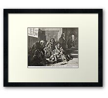 Waiting for the Verdict after A Solomon Framed Print