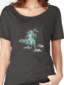 Low Poly Bear Fishing for Salmon Women's Relaxed Fit T-Shirt