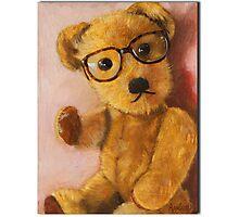Jonathan - teddy bear portrait Photographic Print