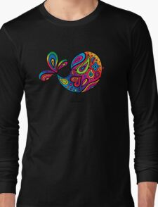 Big Rainbow Bird Long Sleeve T-Shirt