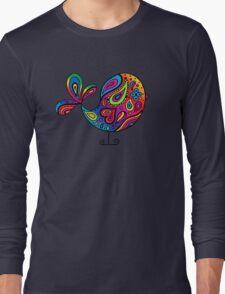 Big Rainbow Bird Long Sleeve T-Shirt
