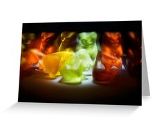 Gummy Bear Photography - Sometimes Slower is Better Greeting Card