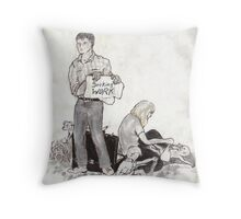 Seeking Work Throw Pillow