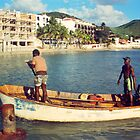 Sint Maarten, local fishermen by Jerry Clitty