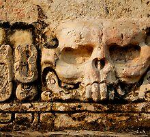 Maya Skull Releif by Alex  Bramwell