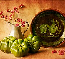 Still Life with Peppers by Colleen Farrell