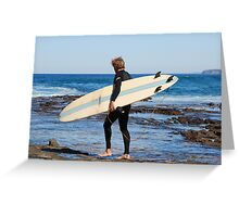SURFER - NEWCASTLE BEACH NSW AUSTRALIA Greeting Card