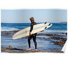 SURFER - NEWCASTLE BEACH NSW AUSTRALIA Poster