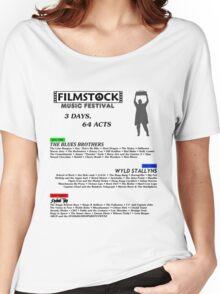 Filmstock Music Festival (black text) Women's Relaxed Fit T-Shirt