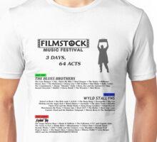Filmstock Music Festival (black text) Unisex T-Shirt