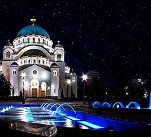 The Church Of Saint Sava Belgrade by stockfineart
