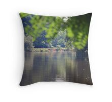 Canalside Reflections Throw Pillow