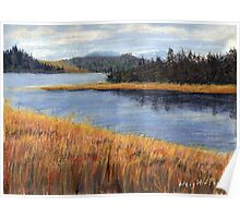 Nestucca River Oregon Pastel Painting Poster