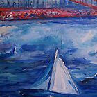 Sailing under the Golden Gate by schiabor