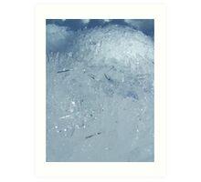Ice Crystals in Macro Art Print