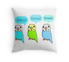 Budgie Thank You Card Throw Pillow