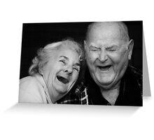 MA & PA SANS TEETH! Greeting Card