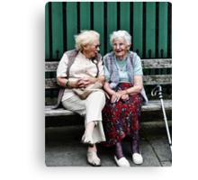little old ladies Canvas Print
