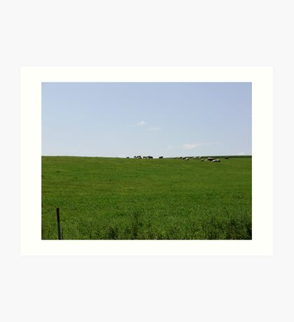 Grazing on the Hillside Art Print