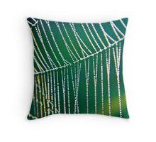 GREEN GLEAM Throw Pillow