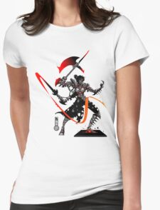 The Game of Kings, Wave Five: The Black Queen's Knight Womens Fitted T-Shirt