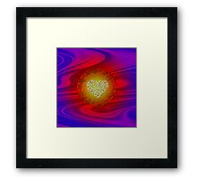 MY HEART BELONGS TO YOU -ABSTRACT ART +Product Design Framed Print
