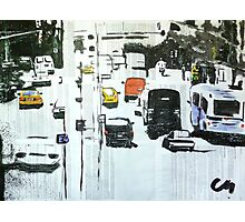 The city's motion.  Photographic Print