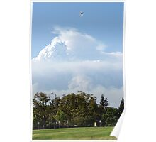 California Wilfires 8/30/2009; Sky view from La Mirada Regional Park 90638; Lei Hedger All Rights Reserved 8/30/2009 Poster