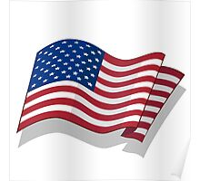 National Flag of the USA. Poster