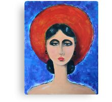 Lady Roundred Canvas Print