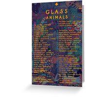 2015 Tour Glass Animals Greeting Card
