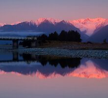 Fox Glacier at sunset by Paul Mercer
