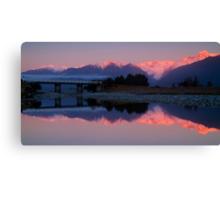Fox Glacier at sunset Canvas Print