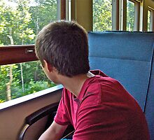 """The Wonderment Of A Train Trip"" - Naugatuck Railroad © 2009 by Jack McCabe"