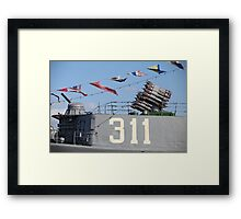armament warship Framed Print